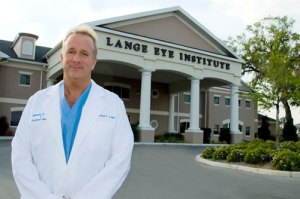 Michael Lange OD, CNS in front of The Lange Eye institute in The Villages.